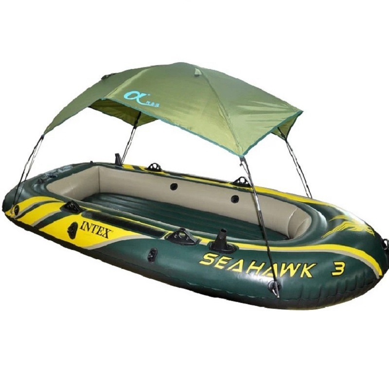 High Quality Seahawk inflatable boat Tent sun shelter inflatable rowing boat PVC Rubber <font><b>Fishing</b></font> Boat Tent Canopy