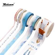 5 видов стилей kawaii синий девушка ocean декоративные васи Клейкие ленты DIY Скрапбукинг маскирования Бумага Клейкие ленты Школа канцелярских товаров