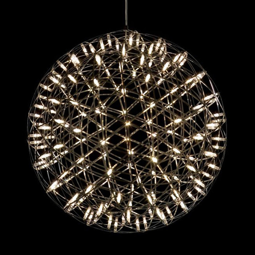 Modern creative firework led pendant lamps stainless steel large modern creative firework led pendant lamps stainless steel large ball lighting fixture lamps for hotel hall decoration in pendant lights from lights mozeypictures Choice Image