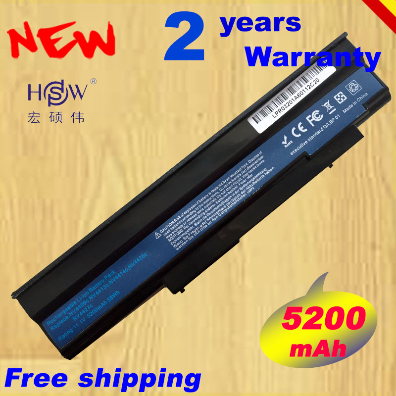 HSW Laptop Battery AS09C31 AS09C71 <font><b>AS09C75</b></font> BT.00603.078 BT.00603.093 BT.00607.073 For Acer Extensa 5235 5635G 5635ZG ZR6 5635Z image