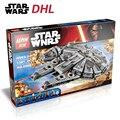 Star Wars 7 LEPIN 05007 1381 Pcs Millennium Falcon Força Despertar Building Blocks Brinquedos Para Crianças Brinquedos Compatíveis com legoe