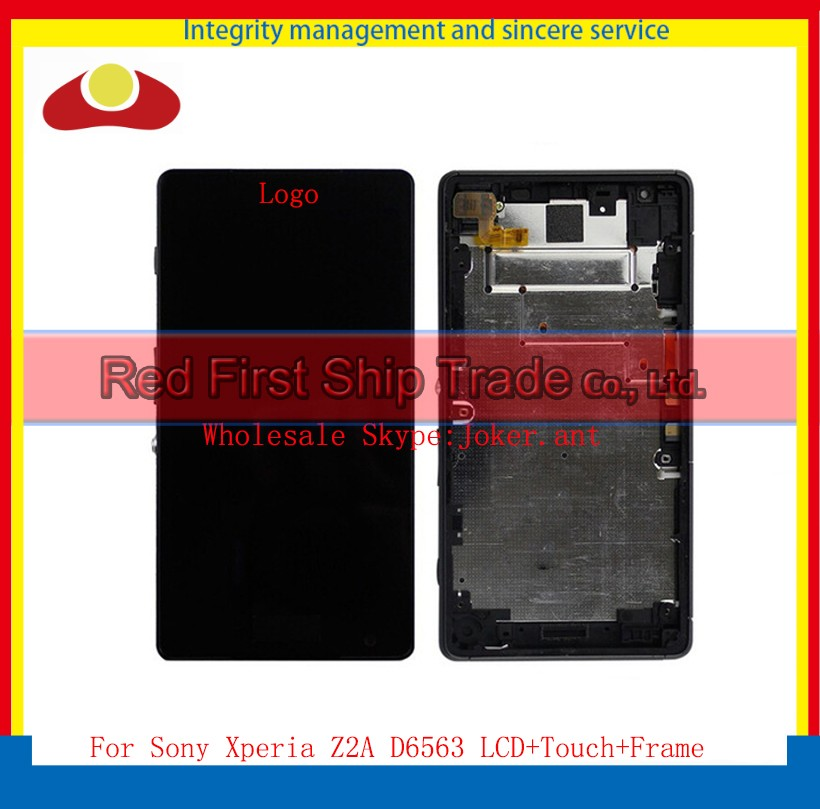 5.0 For Sony Xperia Z2A D6563 Full Lcd Display Touch Screen Sensor Digitizer Panel Assembly Complete With Frame Black+Tracking