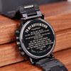 Engraved Wood Watch for Men Personalized Wooden Watches Anniversary Wedding Gift for Him Gift for Dad Son Fiance 2