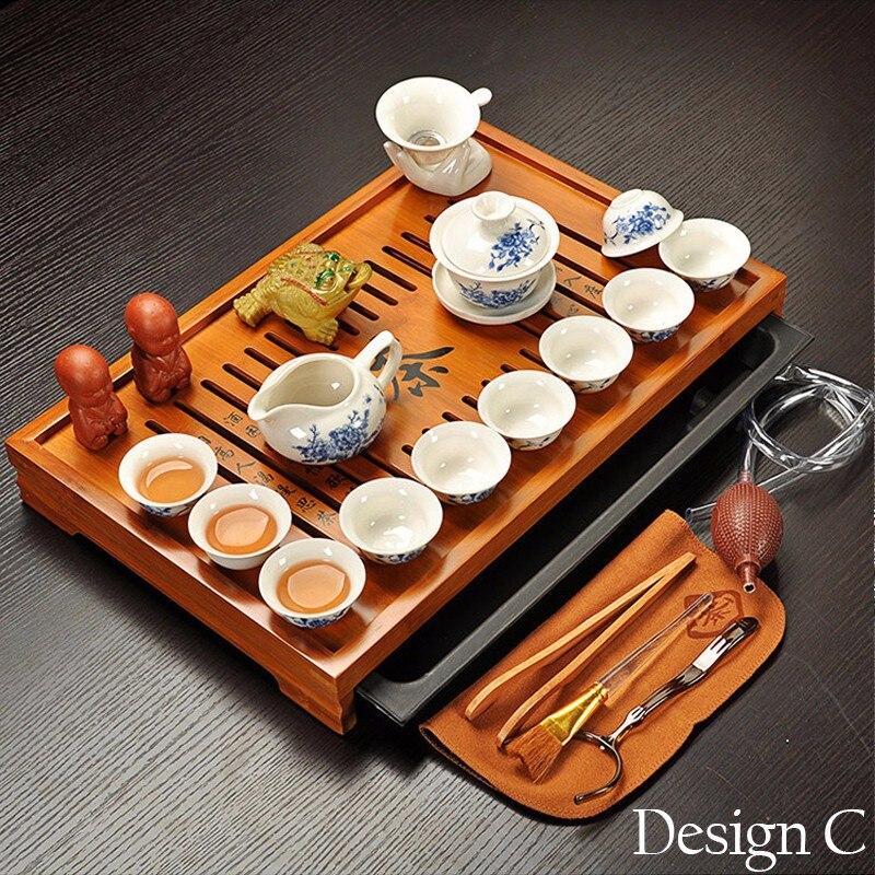 Ensemble de thé Kung Fu en argile violette Jingdezhen, tasse à thé, infuseur de Tureen, cérémonie du thé chinois avec Gaiwan, Table à thé Chahai - 3