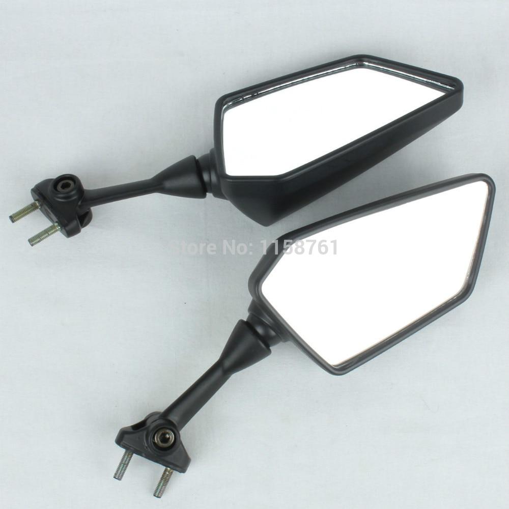 FREE SHIPPING Pair Black Left Right side Rear Mirrors For KAWASAKI NINJA 250R EX250 2008-2013