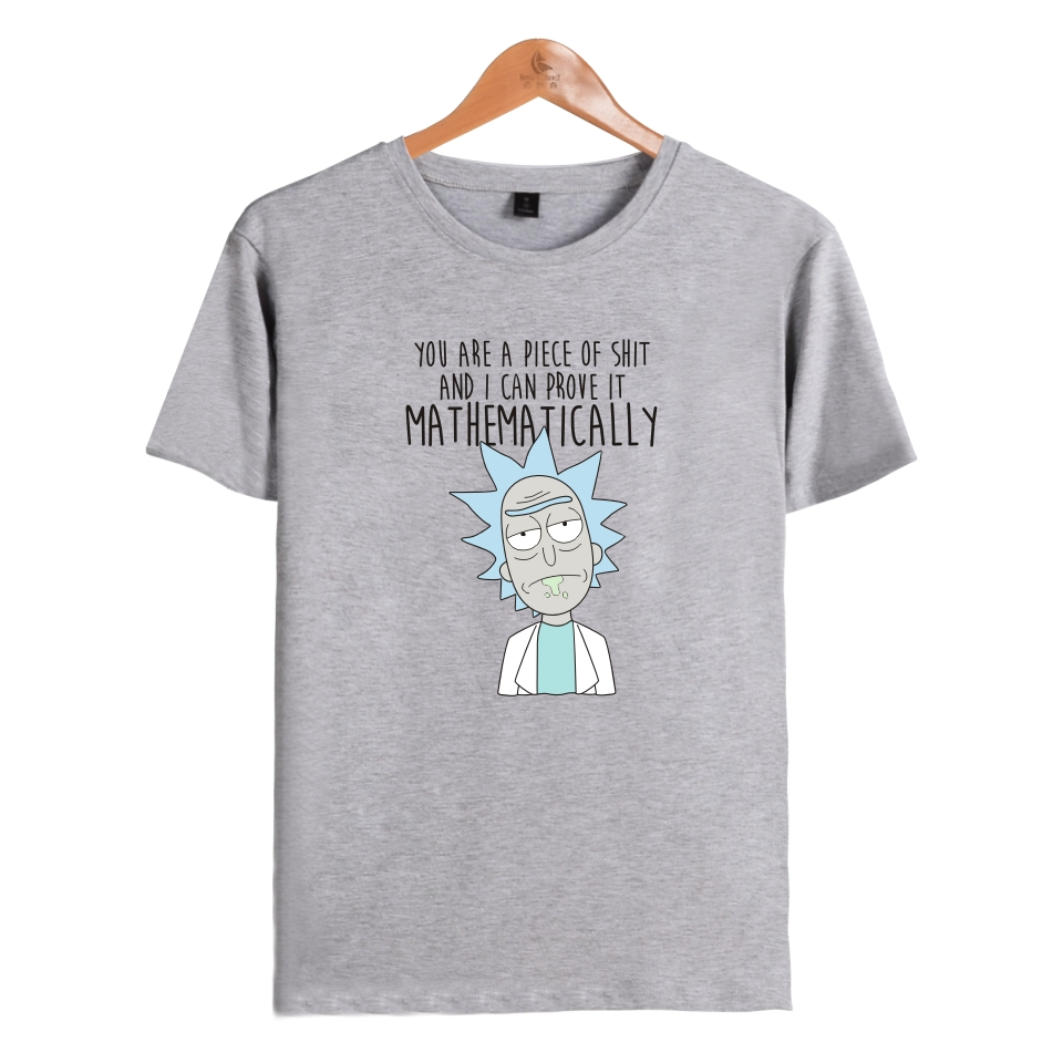 Rick and morty T-shirts New Anime Style Cotton 3D Shirt O-Neck Short Sleeve T Shirt Homme Fans T shirts Mad Scientist Rick