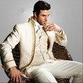 Noble de La Manera Simple Custume Homme Hombres Se Adapte A 3 Piezas (JacketPantVentTie) Últimos Diseños Bragas de la Capa Trajes de Boda Para Hombres Terno