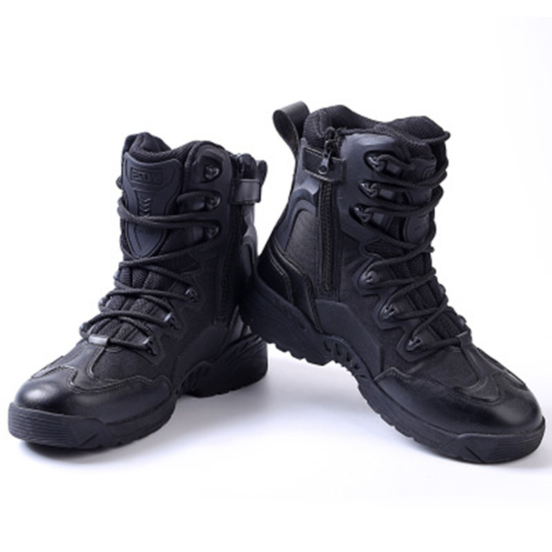 где купить  Winter Leather Outdoor Military Tactical High Boots Sport Shoes Climbing Hiking Shoes for Men Combat Boots Sneakers Camouflage  по лучшей цене