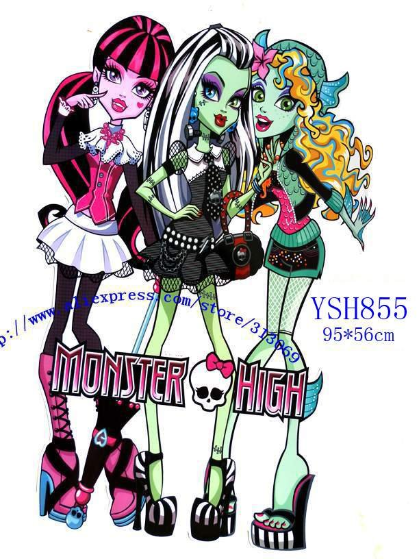 Free Shipping By Dhlmonster High Wall Stickers Hot Sale Cartoon
