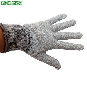 Image 5 - Gants de travail en nylon et fibre de carbone, 5 paires, sans électricité statique, portables, serrés, pour envelopper la voiture, teintes de fenêtre, outils auxiliaires, gants tricotés 5D08