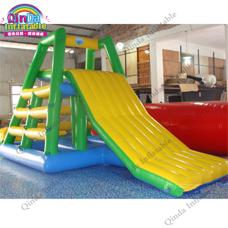 Custom Pool Float  Inflatable Water Slide,0.9mm PVC Water Park Slides giant pvc commercial inflatable water slide with pool for sale