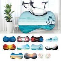 Indoor Universal Bike Wheel Cover Bags Elastic Anti-Dust UV Weather Keeps Floors Dirt-Free Storage Bicycle Protective Bag
