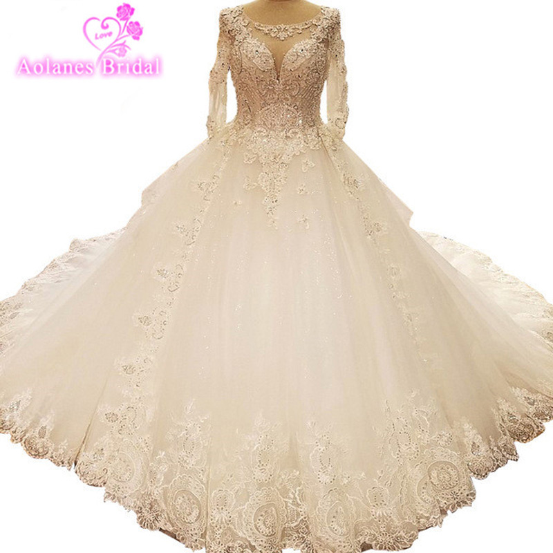 Royal Wedding Ball Gown: Real Photo Ball Gown Scoop Neck Lace Up Royal Train