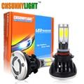 CNSUNNYLIGHT 9005 HB3 H10 COB LED Coche Bombillas de Los Faros 40 W 8000LM de alta Potencia LED Faros 3000 K 6000 K 8000 K Llevó La Lámpara de 12 V Kit