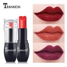 Yfashion Waterproof Matte Lipstick Cute Cat Shape Waterproof Moisturizing Matte Smooth Lip stick Sexy Lip Makeup(China)