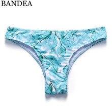 BANDEA Thong bikini women swimwear brazilian Bottoms Two-Piece Separates Swimsuit Cheeky Bikini Bottom thong Bathing Suit  недорого