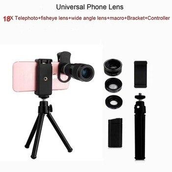 18X телескоп зум-объектив для телефона & Рыбий глаз & макро & Широкий угол для iPhone Samsung смартфон Универсальный телескоп объектив камеры и штати...