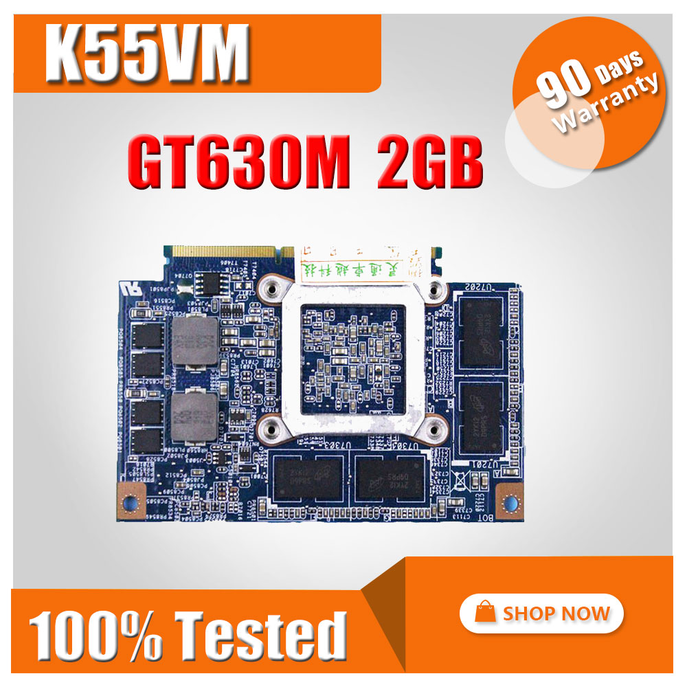 For ASUS K55VM Graphic Card N13P-GL-A1 GT 630M 2GB K55VM video card GT630M Video card 100% original tested ok free shipping and low temperature alarm 634f 220v electron temperature alarm sound and light alarm thermostats