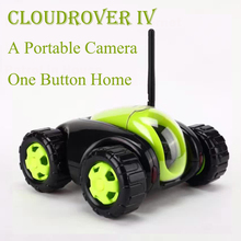 NEW RC Car with Camera 4CH Wifi tank Cloud Rover Portable IP Camera Household Appliances IR Remote Control One Button Home FSWB 2017 new cloud companian wifi rc spy monitoring car robot tank ip camera mobile app remote control