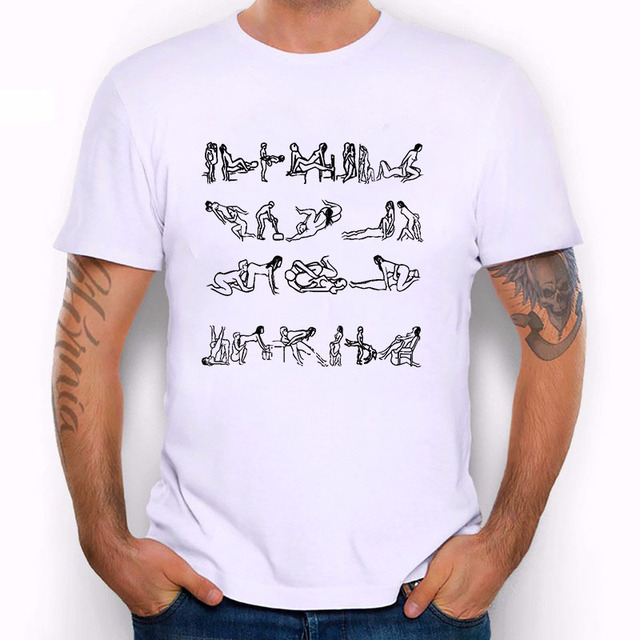 新しい男性セクシーなデザインtシャツファッション白プリント半袖oネックセックス愛進化男の子tシャツ面白いホモ·夏tシャツ