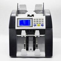 110 V 220 V смешанный счетчик банкнот, с половиной аппарат для сортировки и мультивалютный счетчик банкнот детектор машинка для пересчитывания