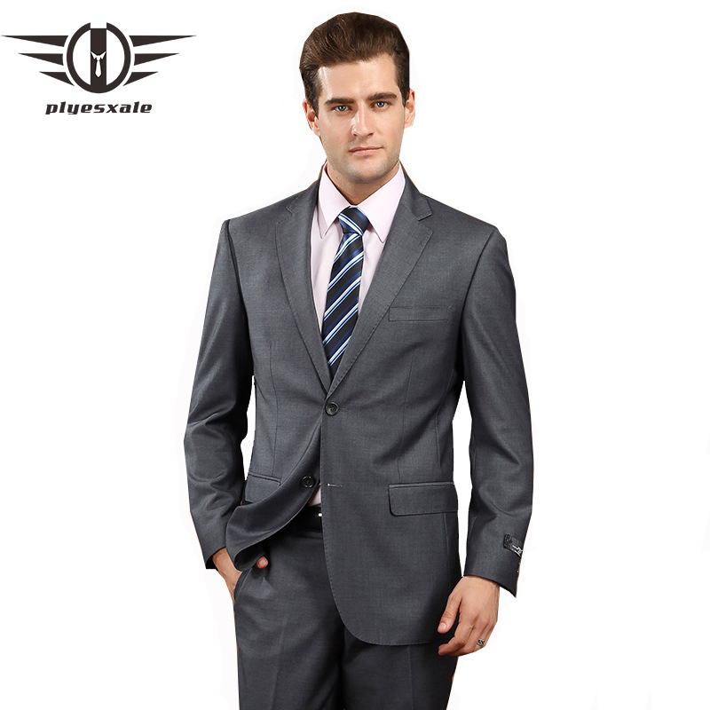 c4c6df22d TIAN QIONG 100% poliéster Blue Sky traje hombres Slim Fit ocio negocios  vestido de novia