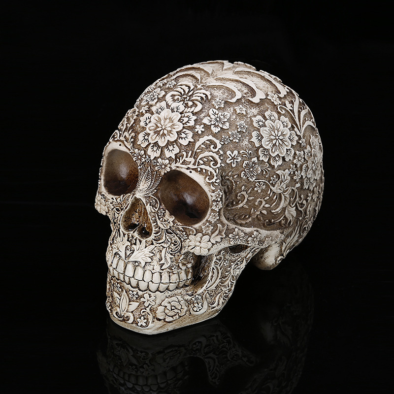 Lifesize Replica Carving Model Skull Figurine Human Head Medical Skeleton -Creative Home Decor Gift