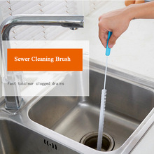 1PC Sewer Creative Cleaning Brush Kitchen Sink Tub Toilet Dredge Pipe Cleaner Snake Brush Bathroom Kitchen Accessories Tools