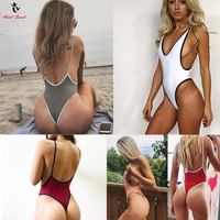 Ariel Sarah Brand 2017 Hot One Piece Swimsuit Swimwear Women Solid Swimsuit Sexy Monokini Maillot De