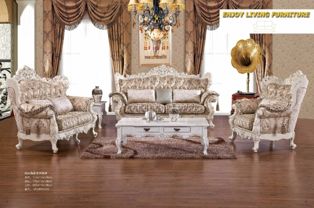 2016 Beanbag Chaise Set Baroque Furniture Living Room Sectional Sofa  European Style Leather Couch Hot Sale