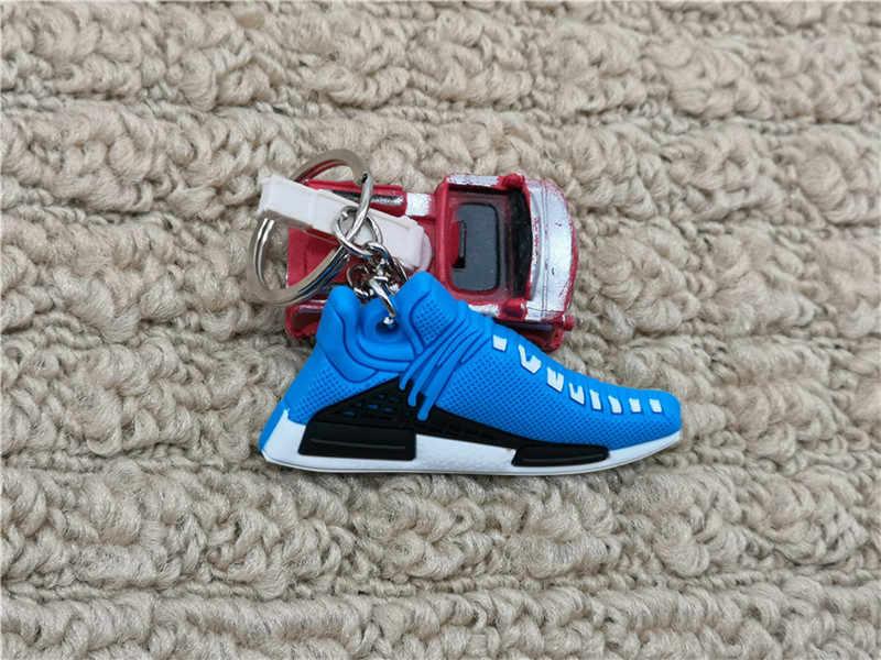 Mới Mini Silicone PHARRELL Giày Móc Khóa Túi Quyến Rũ Người Phụ Nữ NMD Móc Khóa Quà Tặng Giày Sneaker Phụ Kiện Loài Người Móc Khóa Porte clef