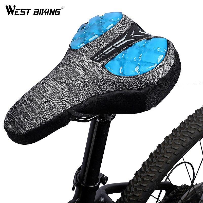 Bike Cycling Soft 3D Sponge Cushion Pad Saddle Seat Cover Waterproof Blue