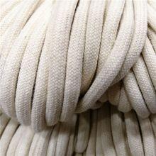 10/50/100M 32-нитка шифрование с хлопчатобумажной основой шнура 5 мм с затягивающими шнурками шнур веревка шнурок для ремесла пояс на шнурке