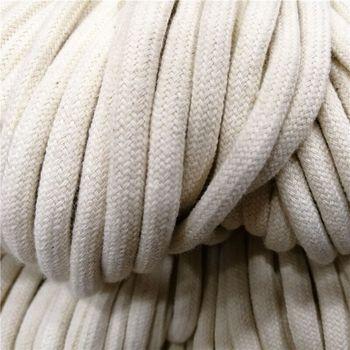 100M 32-strand szyfrowania rdzeń bawełny przewód ciąg 5mm ze sznurkami przewód liny Craft String pas ze sznurkiem tanie i dobre opinie ZHANG ZI YUN 100 bawełna Pleciony Ekologiczne Sznury ROUND