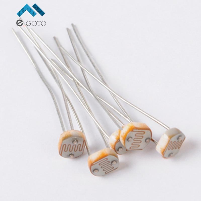 100pcs GL5539 Photoresistor LDR Photo Resistors Light Dependent 5MM ...