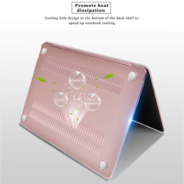Crystal Hard Laptop Case for Macbook AIR Retina 11 12 inch with Touch Bar Cover