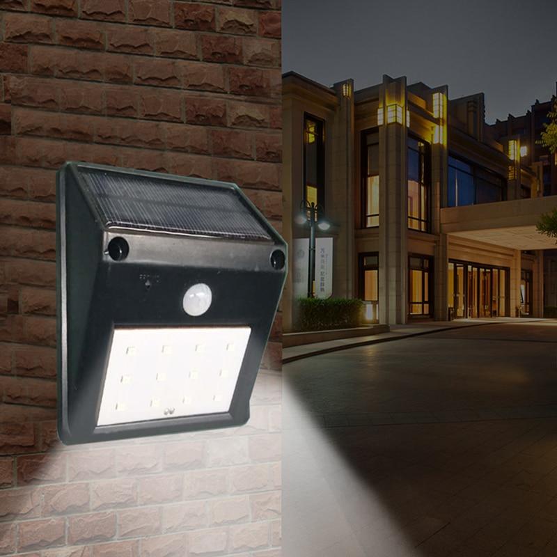 12 LEDs Solar Powered Wireless PIR Motion Sensor Waterproof Solar Light Outdoor Garden Lamp Security Wall Lights Solar Lamps     -