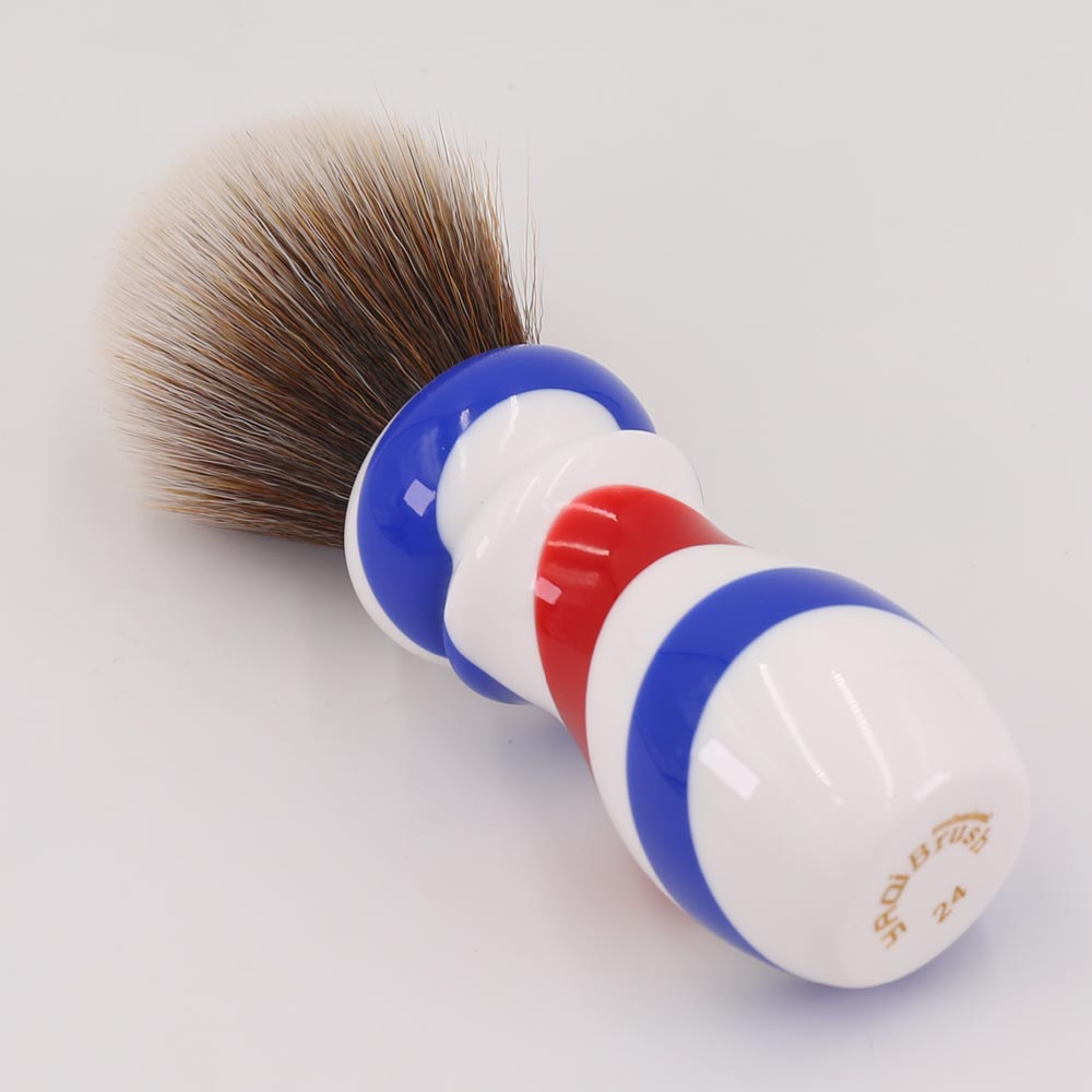 Yaqi New Barber Pole Style 24mm Mew Brown Synthetic Knot Shaving - Barbering og hårfjerning - Foto 4