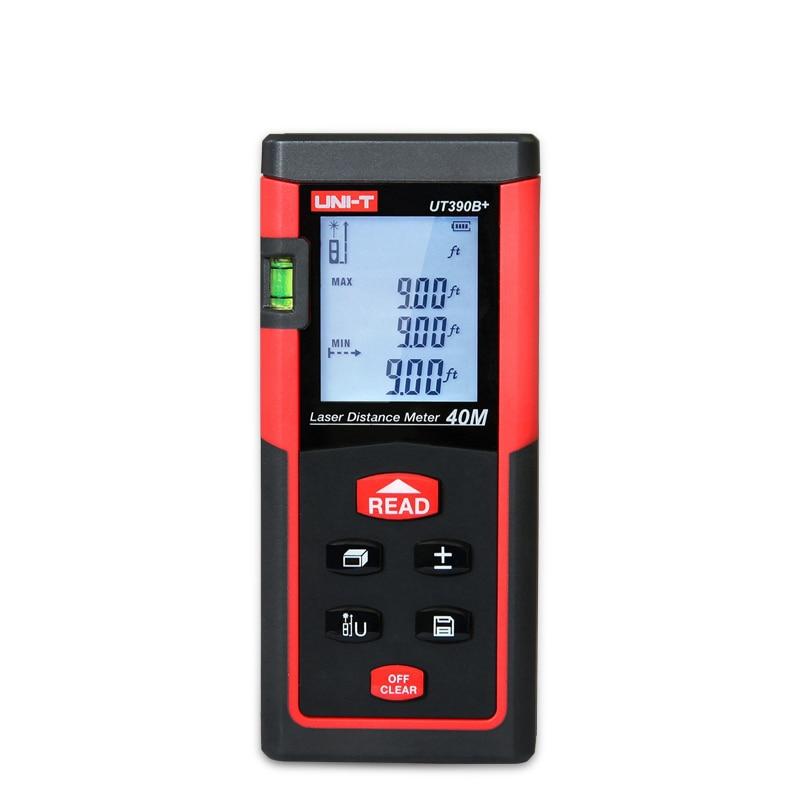 UNI-T UT390B+ Portable Laser Distance Meter 40m Range Finder  Rangefinder 40M Area/volume Tester Tool diastimeter Lcd Backlight ман 40 390 бу продам