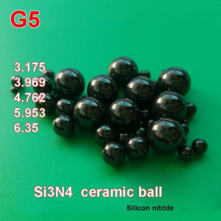 New 10pcs Si3N4 G5 Dia 4.763mm 3//16/'/' Ceramic Bearing Ball