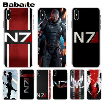 Babaite N7 Mass Effect Splendid Phone Accessories Case For iphone 5 5s 5c SE And 6 6s 7 7plus 8 8plus Phone Case image