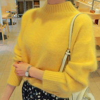DoreenBow 1PC New Autumn Winter Women Sweaters Knitted Fashion Lady Long Sleeve O Neck Outerwear Pullovers