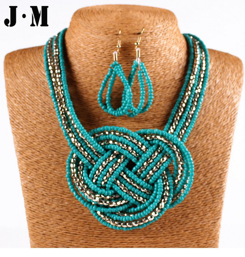 Simpl 8 shaped handmade Seed Pearl african necklace beads wrap ...