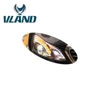 VLAND завод для фара для E180 200 260 2015 2016 светодиодный фар DRL H7 ксеноновая лампа Plug And Play дизайн светодиодный фонарь 12 V