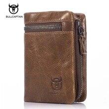 Bullcaptain Hohe Qualität Männer Brieftasche Aus Echtem Leder Mode-Design Große Kapazität Rindleder Mann Geldbörsen Kartenhalter Münzfach
