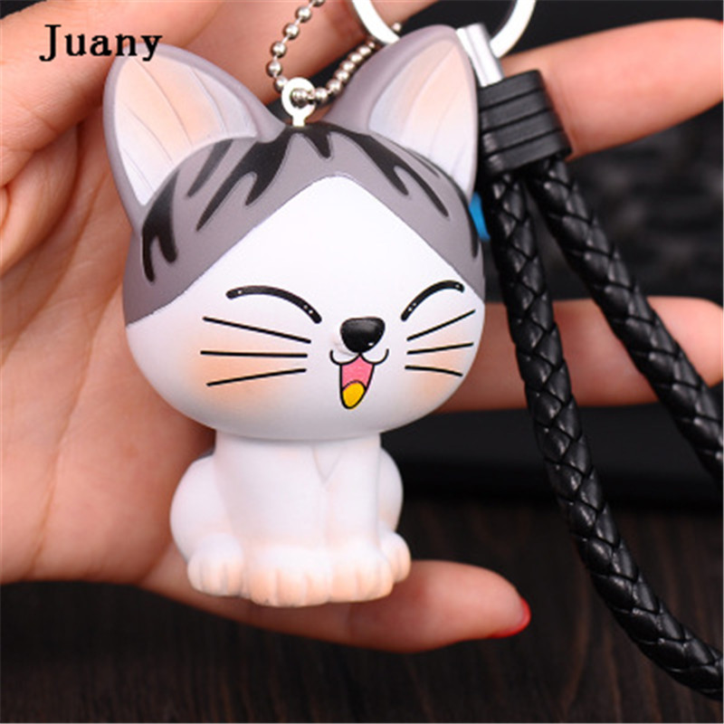 Keyrings Key Chains Rings Cut Cat Holder Purse Bag For Car Lovely Key Chains Juany