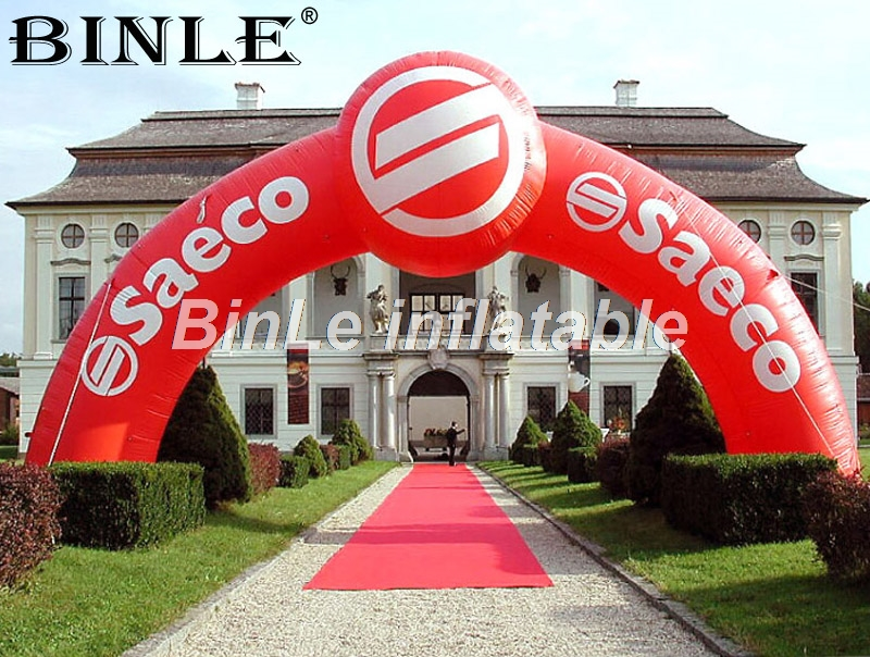 Customized oxford advertising inflatable event arch with air blower&logo printing