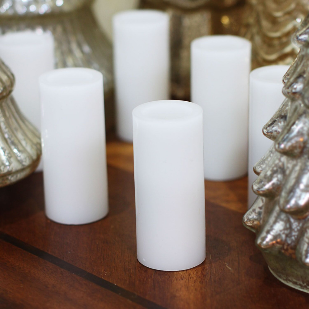 DFL Votive Led Candles light Flameless Real Wax with Timer for Home ...