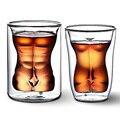 Sexy Lady de Los Hombres Durable Doble Pared Vasos de Whisky Vino del Vidrio de Tiro Taza de la Cerveza