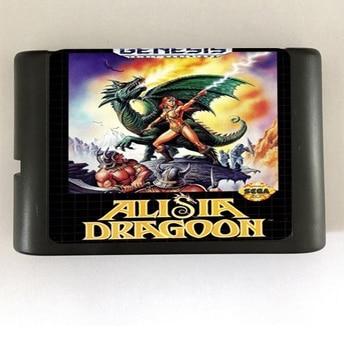 Alisia Dragoon - 16 bit MD Games Cartridge For MegaDrive Genesis console